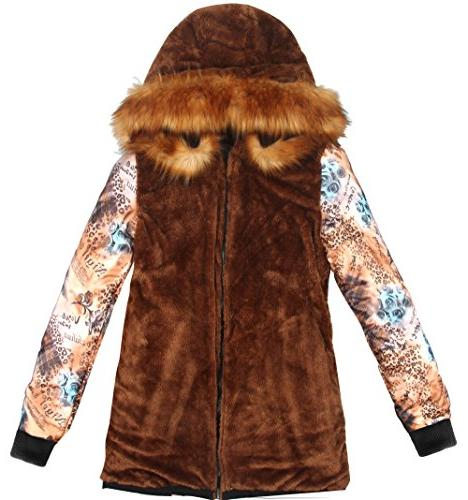 4HOW Hooded Long Winter Coat Size 10
