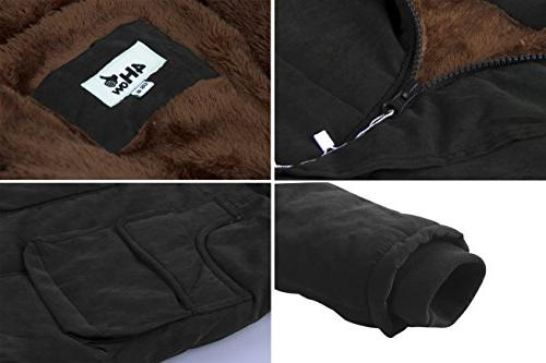 4HOW Parka Hooded Long Winter Faux Size