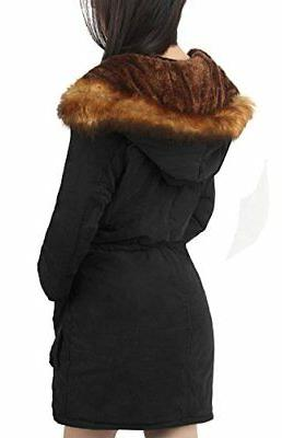 4How Women's Parka Coat, Warm Hooded Fur Lining, Polyester 6