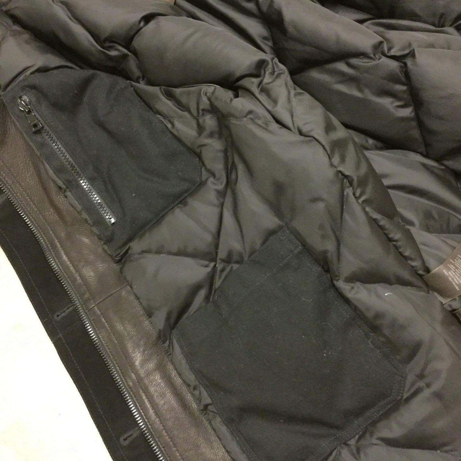 Coach Thompson Leather Snorkel Insulated Winter Coat Fur