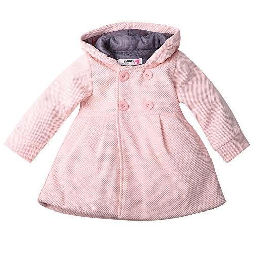 Baby Toddler Girls Fall Winter Trench Coat Wind Hooded Jacke