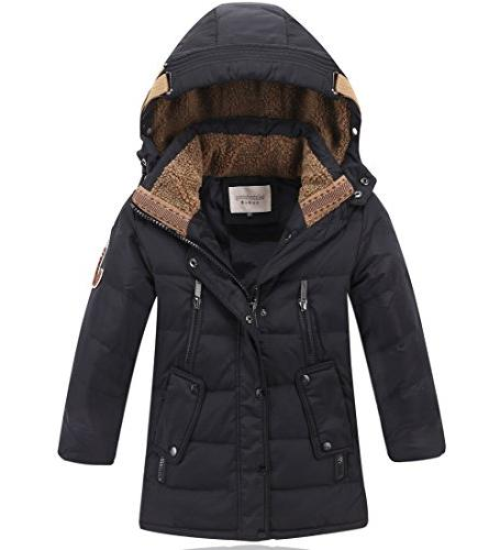 Boys Kids Winter Hooded Down Coat Puffer Jacket For Big Boys