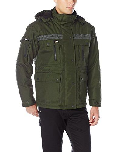 Caterpillar Men's Heavy Insulated Parka, Army Moss, Large