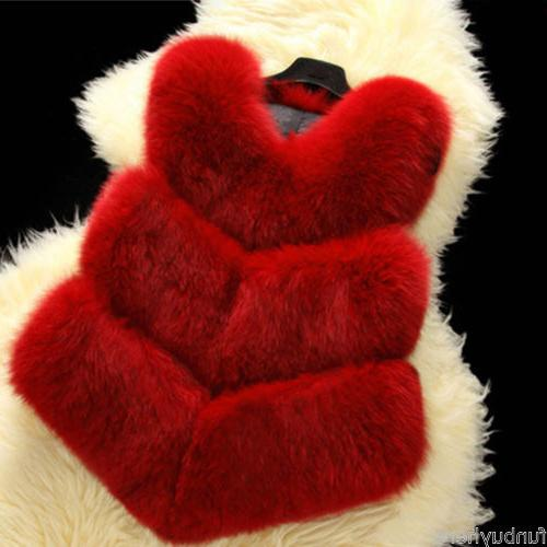 Chic Women Fox Jacket Outwear Vest Gilet Top