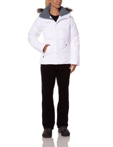 Columbia Women's Lay 'D' Down Jacket, White, X-Large