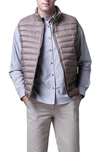 Enlishop Men's Winter Packable Ultra Lightweigth Down Vest J