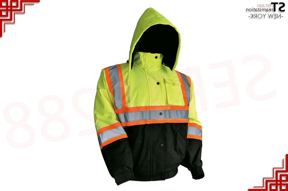 Hi-Vis Insulated Reflective Jacket with