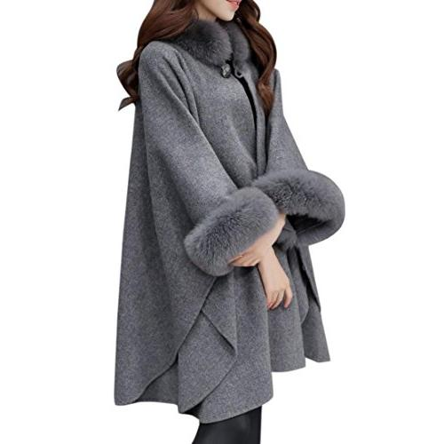 Hot sale! Wintialy Christmas Women Jacket Casual Woollen Out