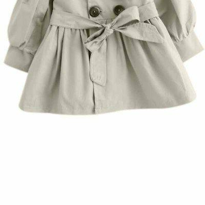 Kids Toddler Baby Winter Trench Coat Outerwear