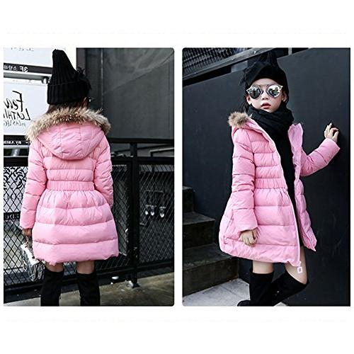 LSERVER Girls Winter Down Parkas for with