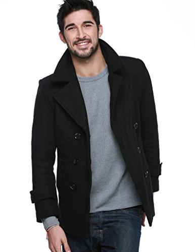 Match Mens Classic Pea Coat Winter Coat