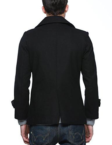 Match Classic Pea Coat Coat 010-Black)