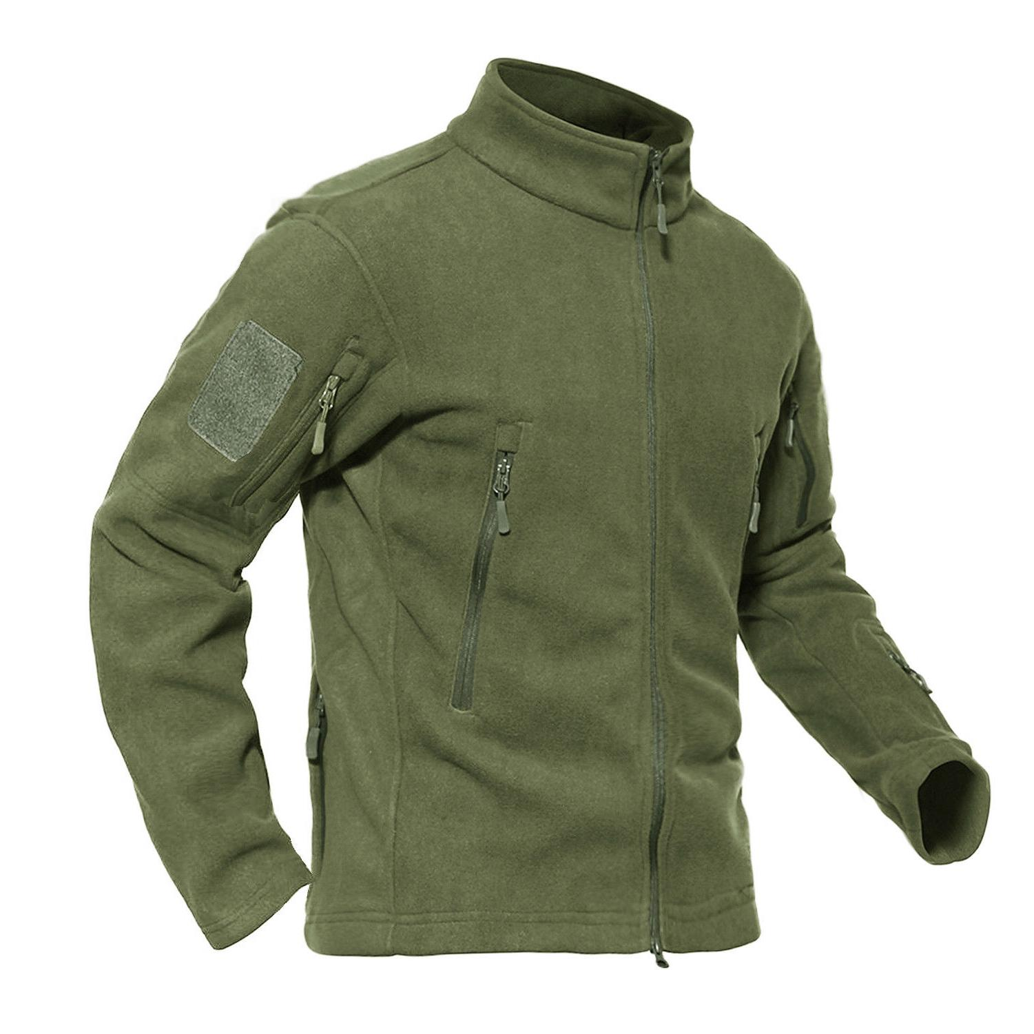 Mens Fleece Jackets Military Outdoor Army Outwear