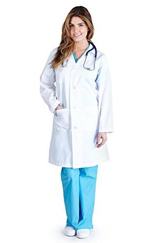 Natural Uniforms - Womens 41 Inch Lab Coat, White 37151-Smal