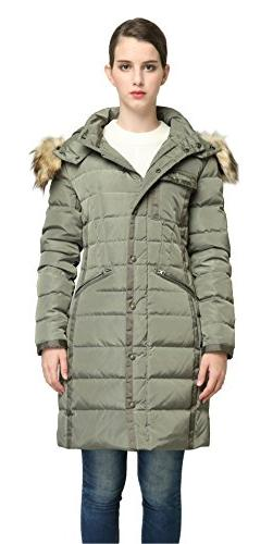 Orolay Women Winter Down Coat Warm Thickened Parka Jacket Wi