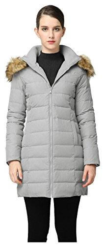 Orolay Women's Thickened Down Jacket Winter Coat YRF8003Q Gr