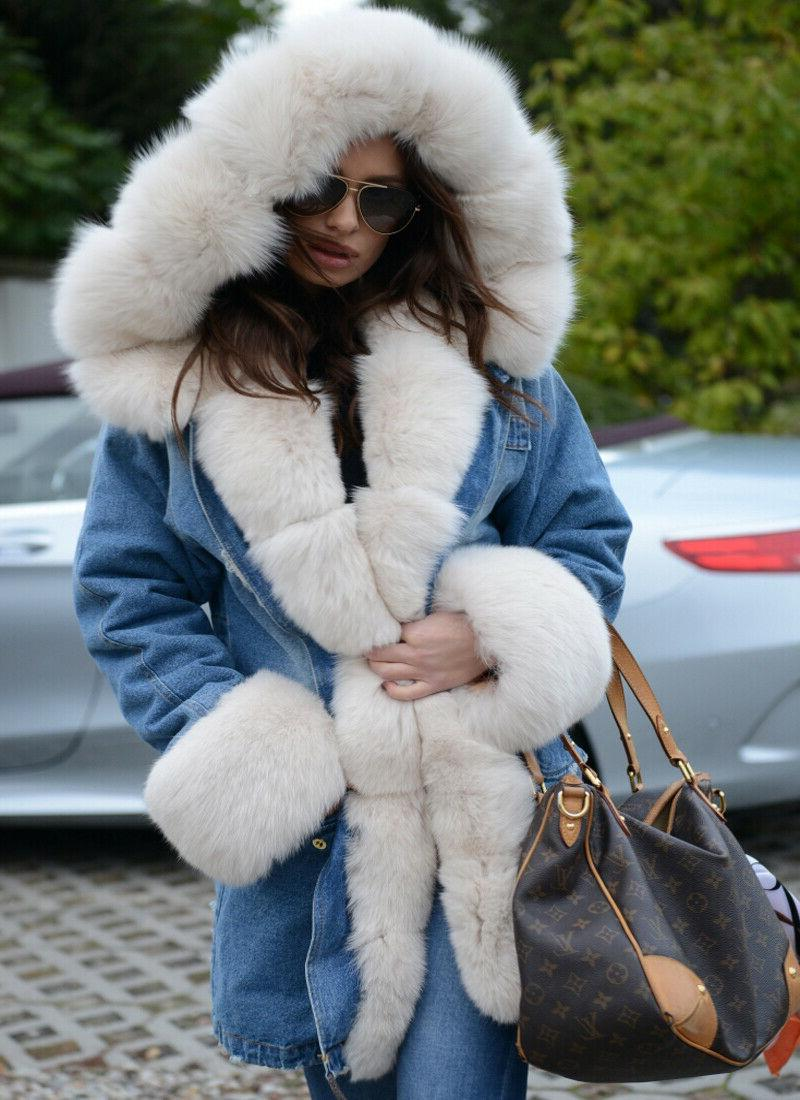 Hooded Warm Faux Lined Parkas Long