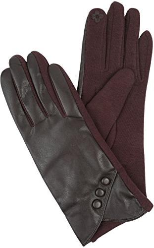 Sakkas 16165 Button Front Warm Winter Touch Gloves Brown -