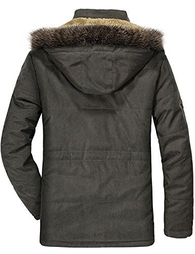 Tanming Faux Fur Lined with Detachable Hood