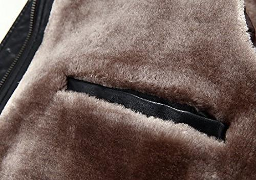 Tanming Warm Leather Fur Hooded Leather