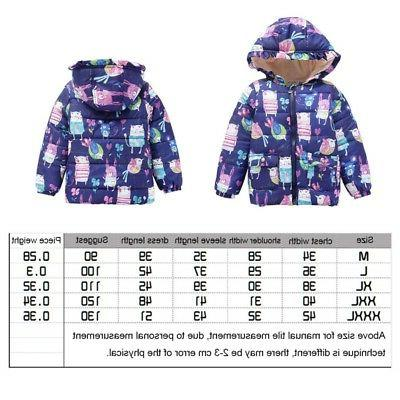 2-7Y Baby Boys Warm Floral Coat Jackets Outwear