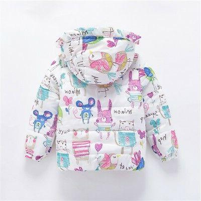 2-7Y Toddler Baby Kids Boys Girl Warm Floral Coat Outwear