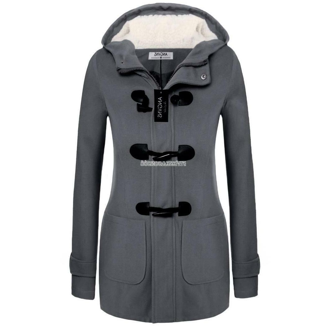 Top LongSleeve Hoodie Solid Winter Coat