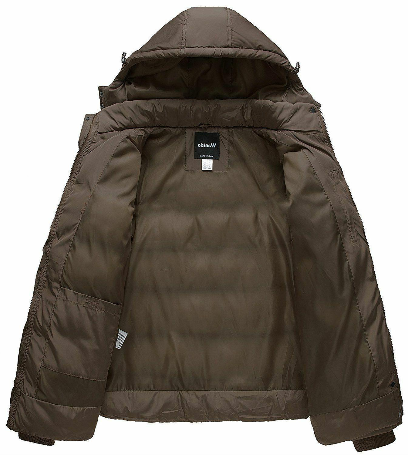 Wantdo Winter Coat with Removable Black, XL