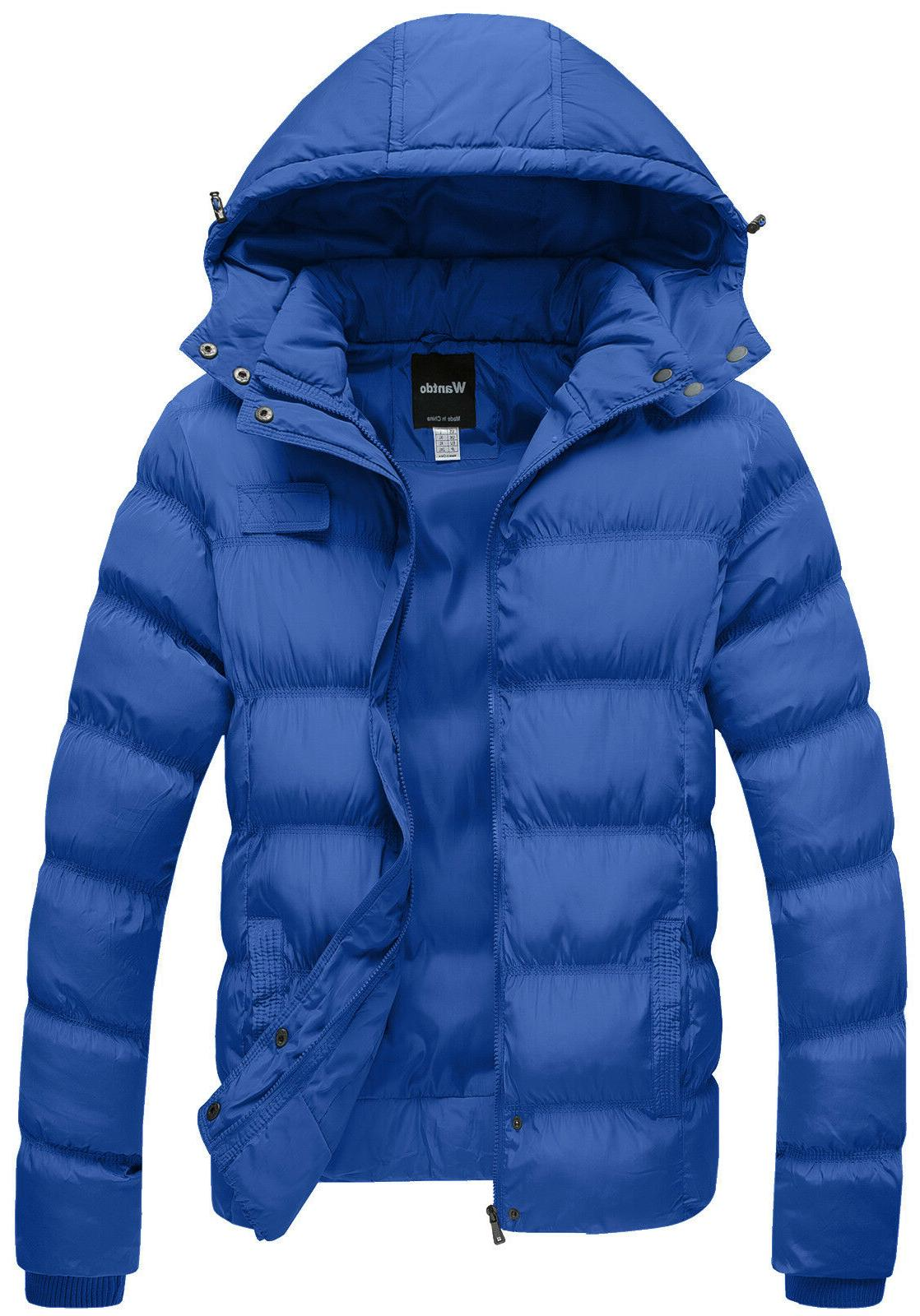 Wantdo Men's Thicken Cotton Coat Puffer Jacket with Hood