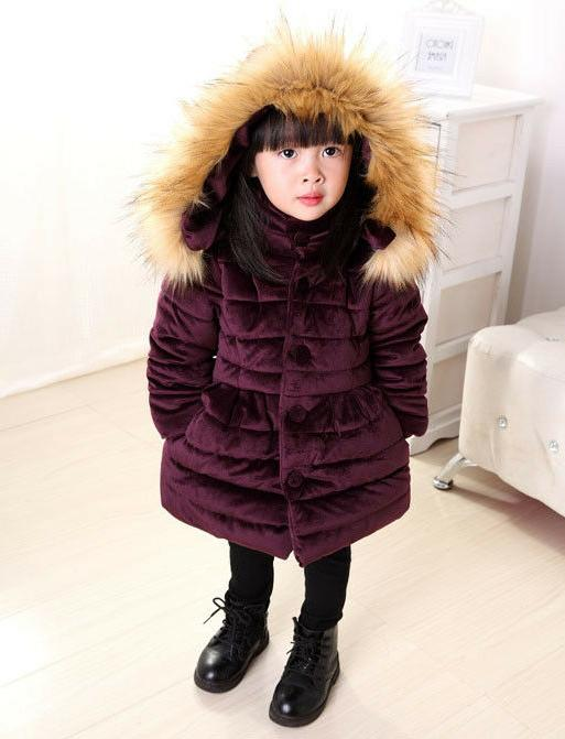 Winter Baby Long Padded Hooded Jacket Puffer Warm Parka
