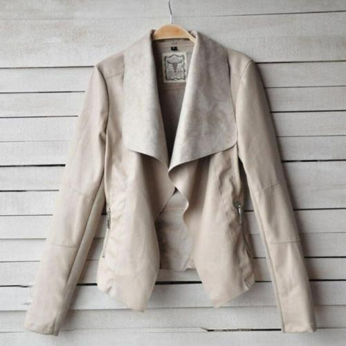 Women's Ladies Coats Biker Casual Flight Top Motor