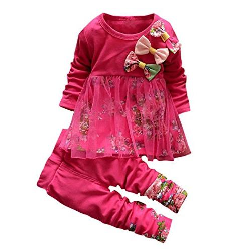 ZLOLIA Baby Clothes Autumn Winter Toddler Kids Girls Floral