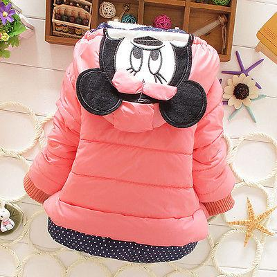 Baby Girls Toddler Kids Mickey Coat Winter Warm