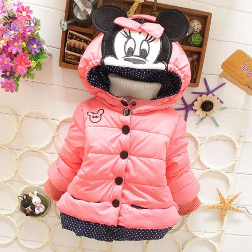 Baby Toddler Kids Mickey Hooded Jacket Coat US