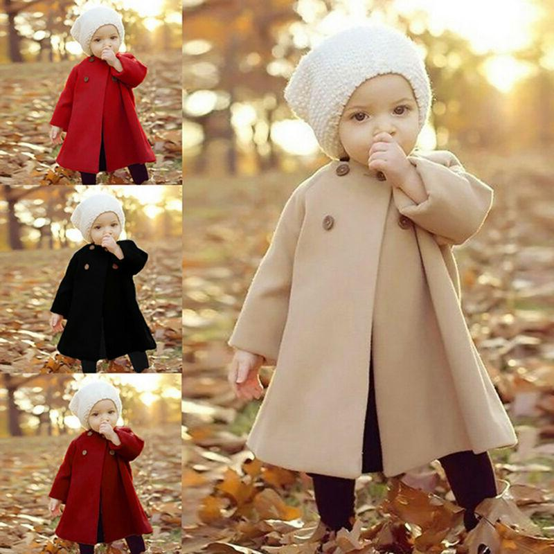 Baby Toddler Girls Winter Trench Coats Jacket Kids Outerwear
