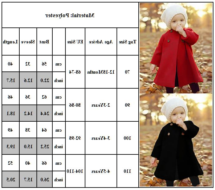 Baby Girls Trench Coats Outerwear Clothes