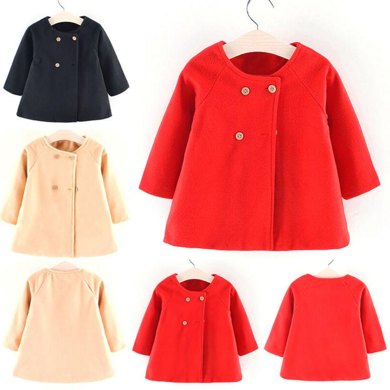 Baby Toddler Girls Trench Kids Outerwear