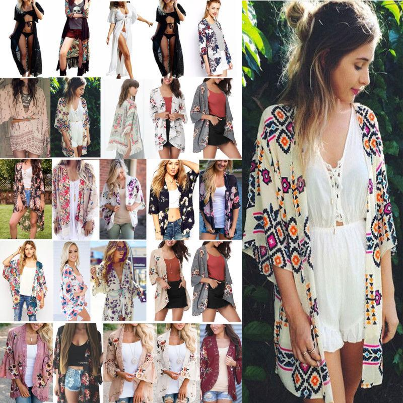 boho women s cover up loose floral