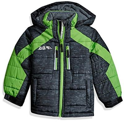 London Fog Boys' Big Active Puffer Jacket Winter Coat, Real
