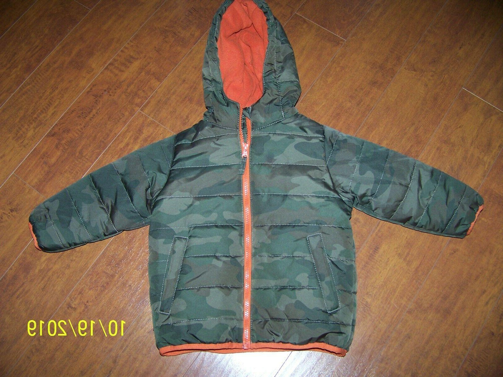 boys nwot tcp camouflage camo hooded winter