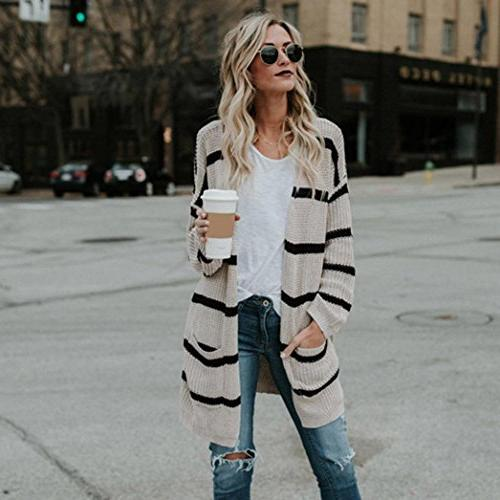 Cardigans Autumn Winter Knitted Sleeve Coat