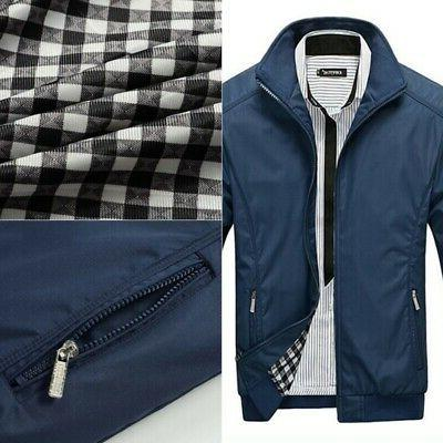 Casual Men's Warm Fit Jackets Tops Winter Color Outerwear
