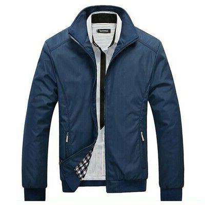 Casual Men's Slim Fit Jackets Tops Coat Winter Solid Outerwear
