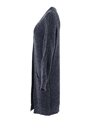 Simplee Women's Front Long Sleeve Cardigan Sweater Coat Pockets,Navy Size