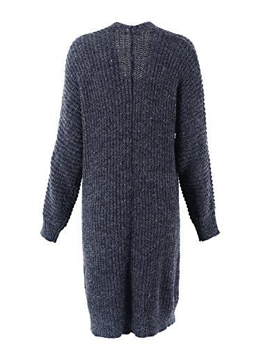 Simplee Casual Front Cardigan Pockets,Navy