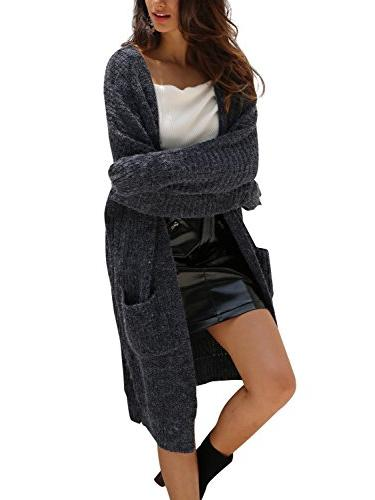 casual open front long sleeve