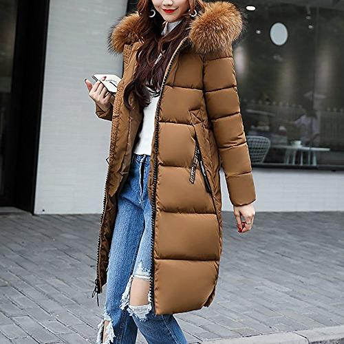 Coats Women Winter Sale,Clearance Sale!!Farjing Casual Thicker Winter Coat Jacket Overcoat(XL,Coffee )