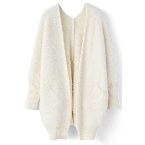 comfy casual soft mohair open