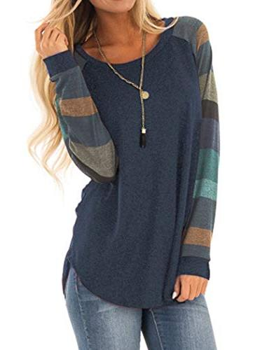 cotton knitted long sleeve loose