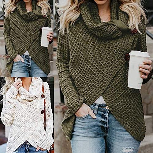 Deals Womens Turtleneck Pullover Tops Blouse Sweater